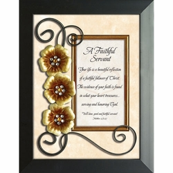 A Faithful Servant - Framed Christian Tabletop Home Decor