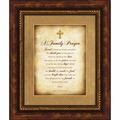 A Family Prayer Christian Wall Decor