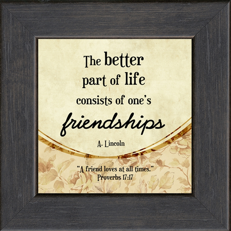 A Friend Loves At All Times Framed Gift   LordsArt