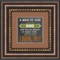 A Man of God - Framed Christian Tabletop Home Decor
