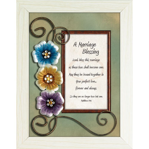 A Marriage Blessing Framed Christian Tabletop Home Dcor Lordsart