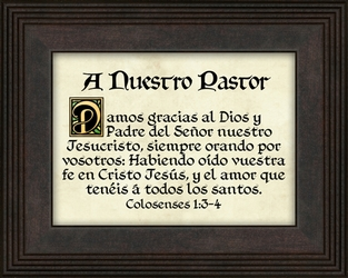 A Nuestro Pastor (Our Pastor) Appreciation Gift - 4 Frames Available