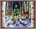 A Simple Tree Throw Christmas Tapestry