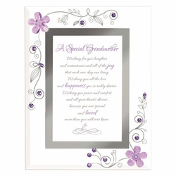 A Special Grandmother - Purple Framed Christian Tabletop