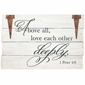 Above All Wood Pallet Sign - Christian Home & Wall Decor