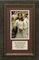 After the First Communion (Detail 1 Girl) with Prayer Framed