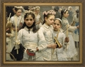 After the First Communion (Detail 3 Girls) - 9 Framed Options