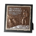All Things Are Possible Small Stone Sculpture Plaque