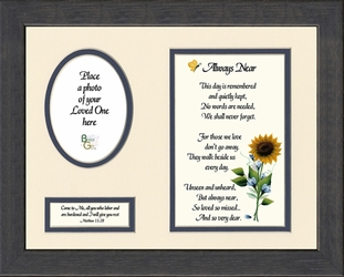 Always Near Sympathy Poem Photo Framed Christian Gift