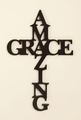 Amazing Grace Carved Wood Sign