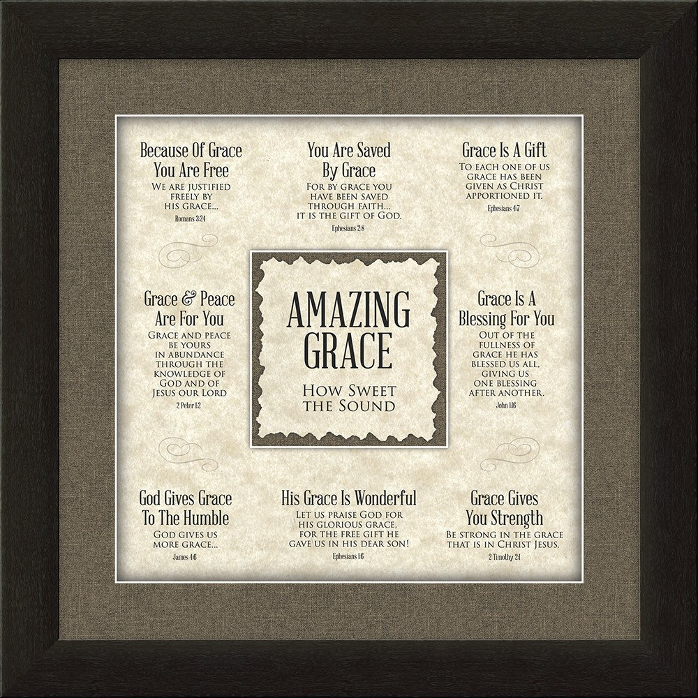 Amazing Grace: Amazing Grace Framed Christian Home Decor