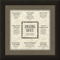 Amazing Grace Framed Christian Home Decor