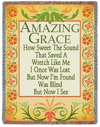 Amazing Grace Inspirational Tapestry Throw