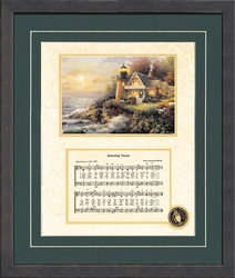 Amazing Grace Song with Decorative Lighthouse - 4 Frames Available
