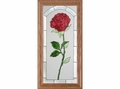 American Beauty Rose Stained Glass Art Panel