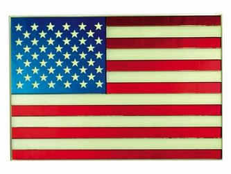 American Flag Stained Glass Art Panel