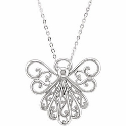 An Angel In You Sterling Silver Necklace