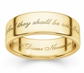 And They Shall Be One Flesh Bible Verse Wedding Ring in 14K Yellow Gold
