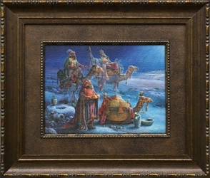 And Wise Men Came Bearing Gifts by Tom duBois - Framed Christian Art