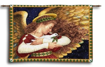 Angel and Dove Inspirational Wall Hanging