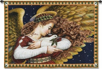 Angel and Dove Large Inspirational Wall Hanging