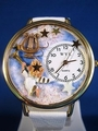 Angel with Harp Religious Gold Watch