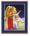 Angels at Night Tapestry Throw
