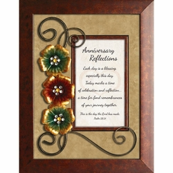 Anniversary Reflections - Framed Christian Tabletop Home Decor