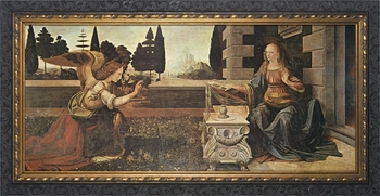 Annunciation by Leonardo Da Vinci - 5 Framed Options