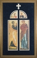 Annunciation Icon (Matted) - Framed Christian Art