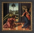 Annunication by Alessandro Botticelli (Ornate Dark Frame) - 4 Framed Options