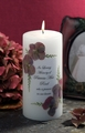 Antique Hydrangea 3x6 Memorial Candle