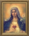 Antique Immaculate Heart (Gold Frame) - 4 Framed Options