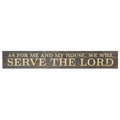 As For Me And My House Plank Sign - Christian Home & Wall Decor