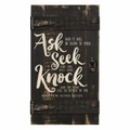Ask, Seek And Knock Pallet Decor - Christian Home & Wall Decor