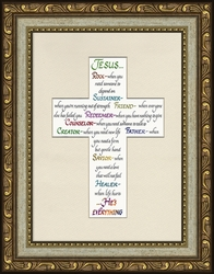 Attributes of Jesus Framed Christian Home Decor - 4 Frames Available