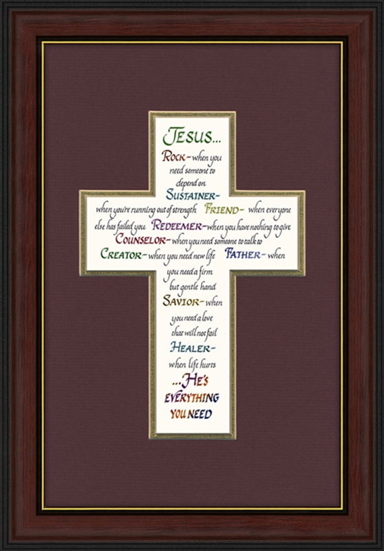 Religious Wall Decor attributes of jesus framed christian wall decor | lordsart