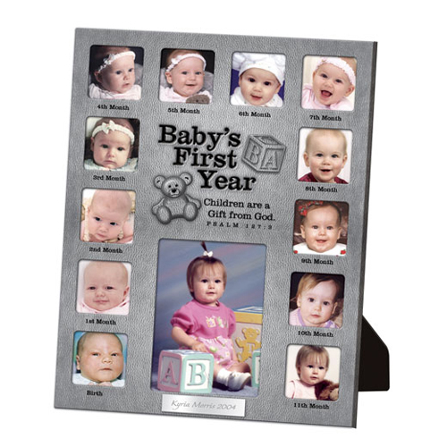 babys first year collage picture frame