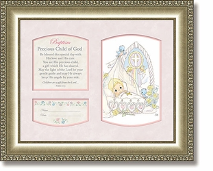Baptism Girl Psalm 127:3 Framed Christian Art by Heartfelt