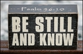 Be Still And Know Wood Block - 2 Per Package