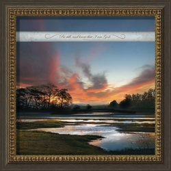 Be Still - Framed Christian Art