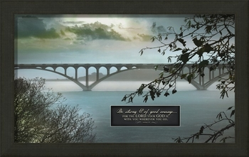 "Be Strong And Of Good Courage - ""By My Side"" Christian Wall Decor"