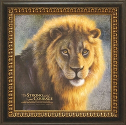 Be Strong/ Good Courage - Framed Christian Wall Decor