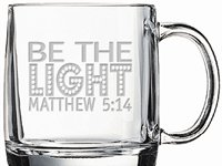 Be The Light Sand Etched Coffee Mug S/4