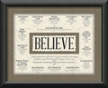 Believe Framed Art - Christian Wall Decor