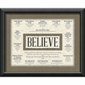 Believe Framed Christian Home Decor