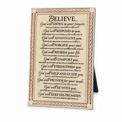 Believe Word Study Plaque - Christian Home Decor