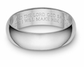 Bible Verse Wedding Band Ring - White Gold