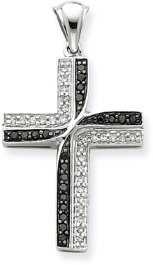 Black and white diamond cross pendant at lordsart black and white diamond cross pendant aloadofball Image collections