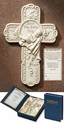 Bless This Baby Boy Tomaso Gift Cross Christian Wall Decor